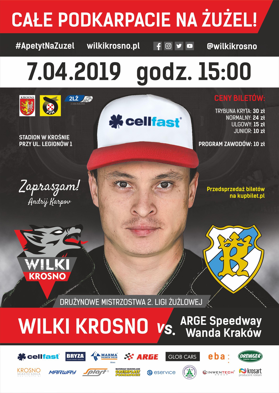 Oficjalny plakat Wilki Krosno Wanda Krakow