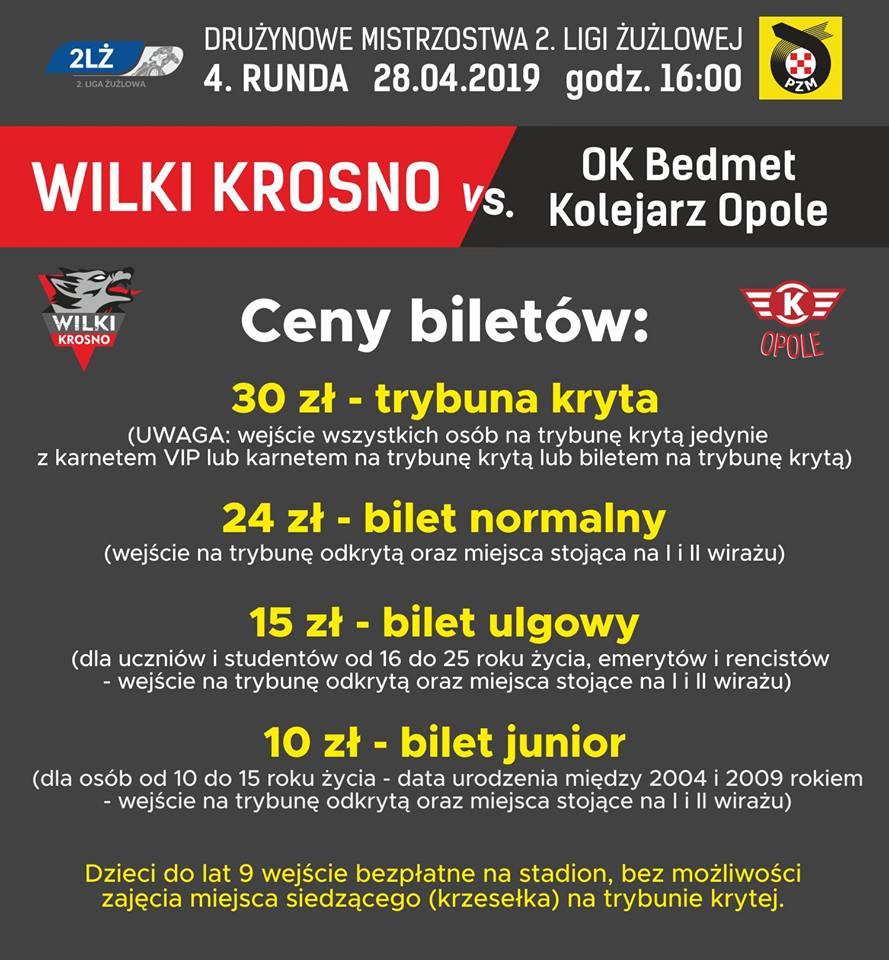 Bilety Krosno Opole